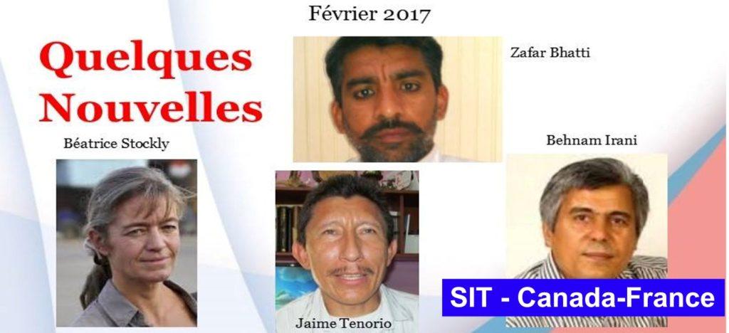Lettre d´information février-2017 SIT Canada-France