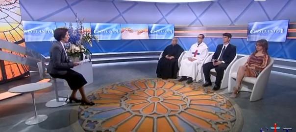 Padre Sergio Pereira en la RAI Internacional (Roma)