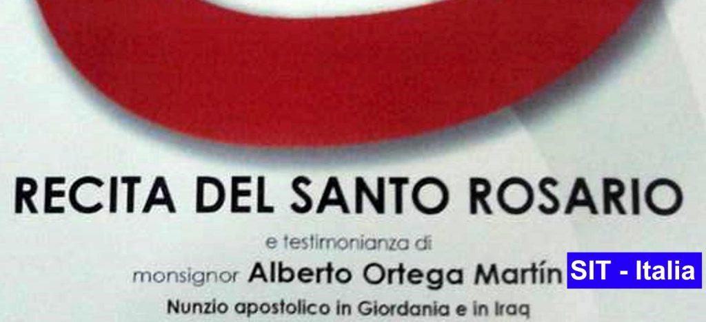 Preghiera per i cristiani perseguitati col Nunzio Apostolico in Irak e Giordania in Santa Maria alle Fornaci (Roma).