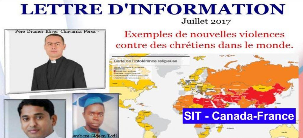Lettre d´information juillet -2017 SIT Canada-France