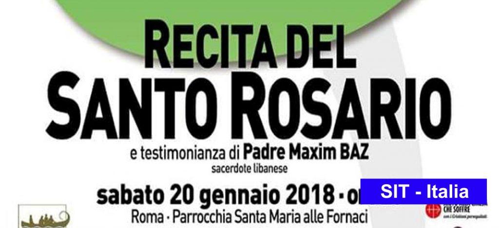 RECITA DEL SANTO ROSARIO e testimonianza di Padre Maxim Baz (sacerdote libanese)