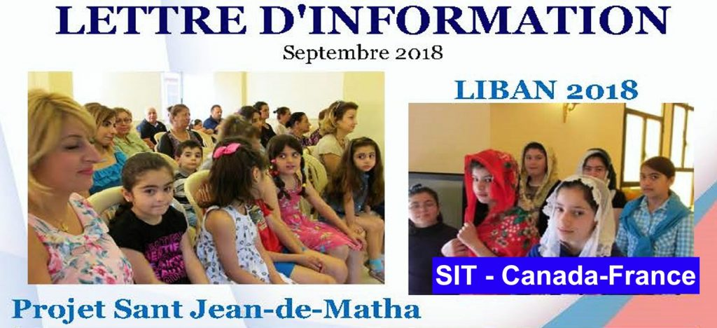 Lettre d´information septembre – 2018 SIT Canada-France