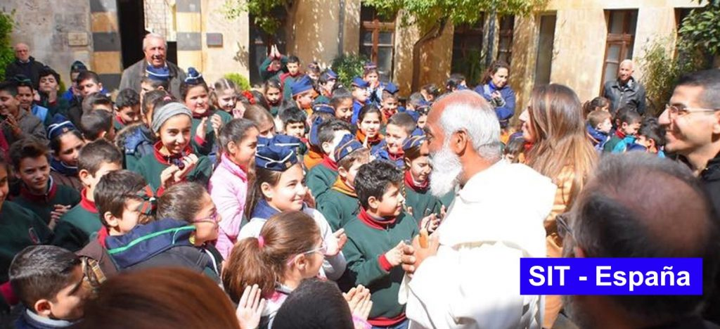 The General Father of the Trinitarians, Jose Narlaly, visiting the Trinitarian International Solidarity projects in Aleppo.