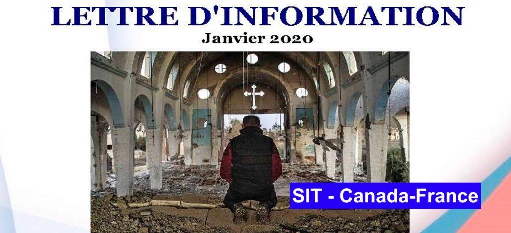 Lettre d´information janvier – 2020 SIT Canada-France