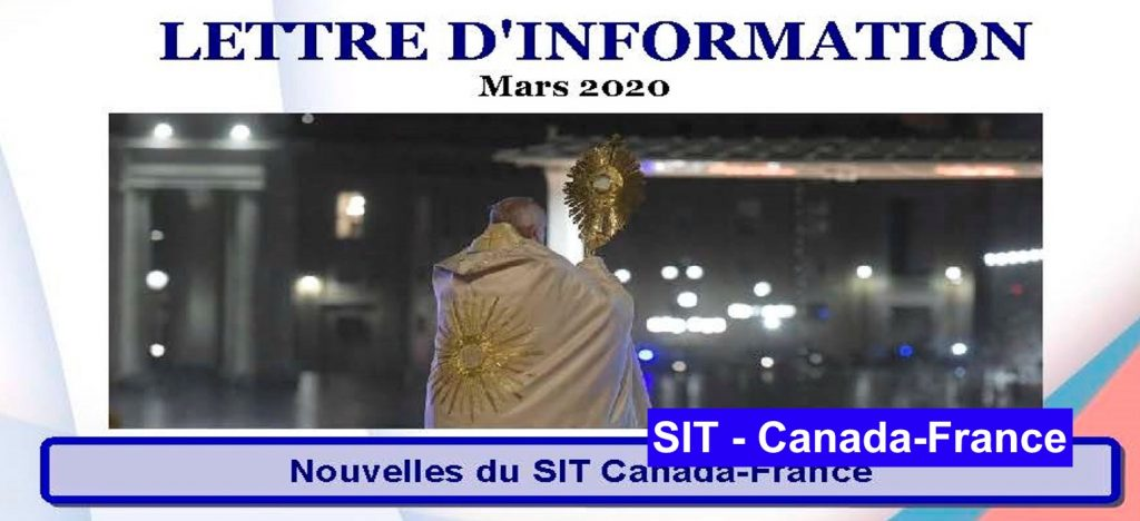 Lettre d´information mars  – 2020 SIT Canada-France