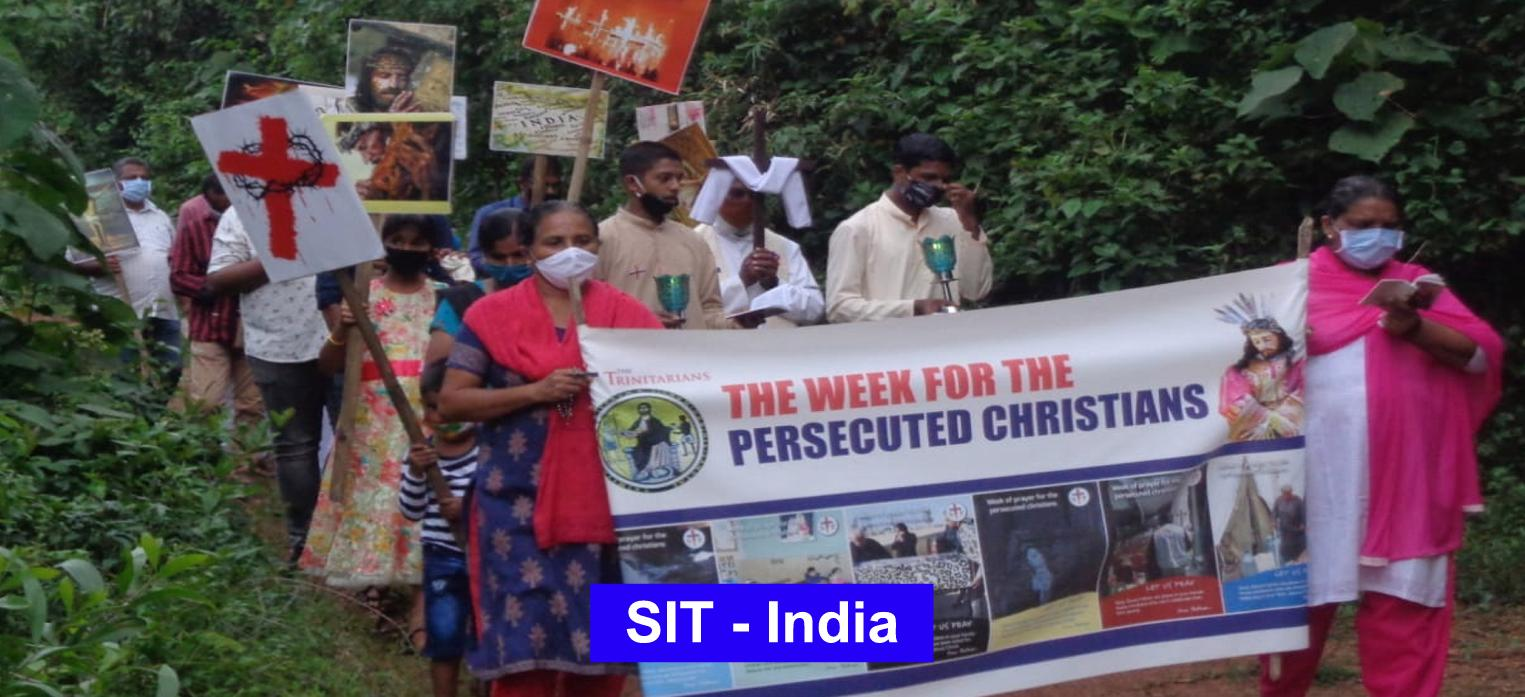 Viacrucis for persecuted Christians performed by the Laity of Kasaragod, India
