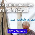 Semaine de prière pour les chrétiens persécutés – 22 octobre 2020
