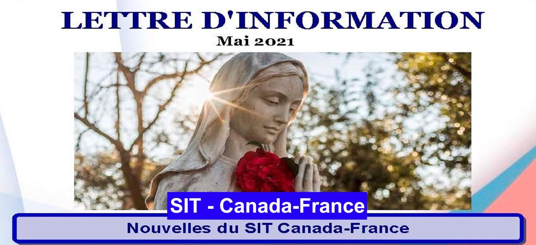 Lettre d´information mai  – 2021 SIT Canada-France