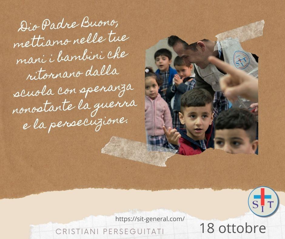 18 OTTOBRE – Settimana di preghiera per cristiani perseguitati. Preghiere per ogni giorno.