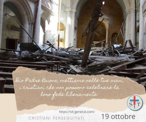 19 OTTOBRE – Settimana di preghiera per cristiani perseguitati. Preghiere per ogni giorno.