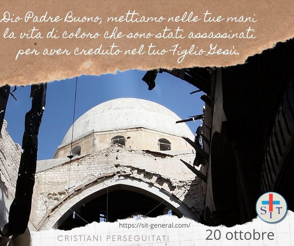 20 OTTOBRE – Settimana di preghiera per cristiani perseguitati. Preghiere per ogni giorno.