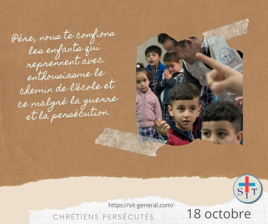 18 OCTOBRE – Semaine de prière pour les chrétiens persécutés.