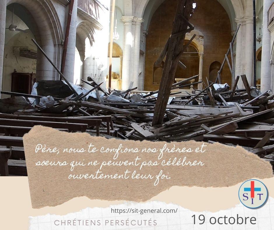 19 OCTOBRE – Semaine de prière pour les chrétiens persécutés.